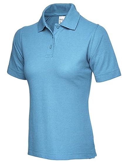 Mujer Pique Polo Camiseta tamaño UK 8 hasta 26 Plus New Casual ...