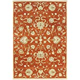 Alliyah Handmade Rusty Orange New Zealand Blend Wool Rug (10  x 12 )