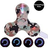 LEEHUR Fidget Spinner, USB Wiederaufladbare LED Hand Finger Spinner Fidget Spielzeug mit 15 Lichteffekte für ADHS EDC Stress Reducer Kinder Erwachsene