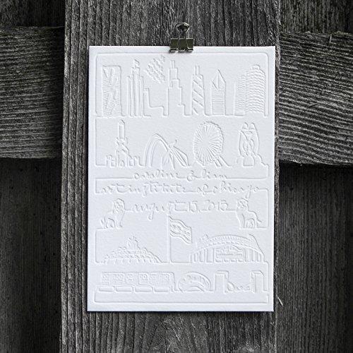 amazon com chicago letterpress save the date handmade