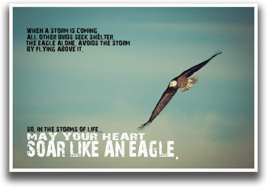 MR CI JSC276 Soar Like an Eagle Poster | 18-Inches by 12-Inches | Premium 100lb Gloss Poster Paper