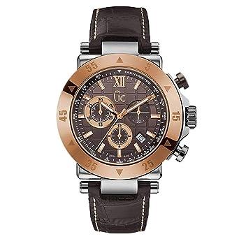 Guess Reloj Cronógrafo para Hombre de Cuarzo con Correa en Cuero X90020G4S: Amazon.es: Relojes
