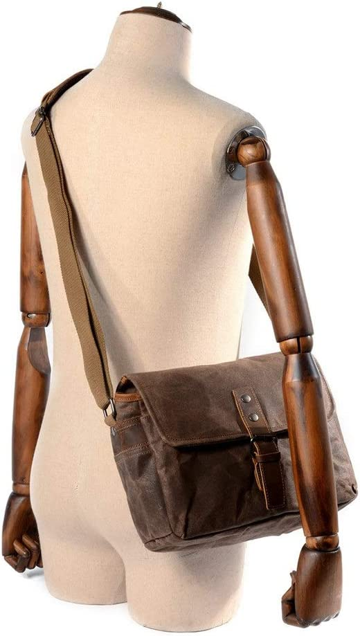 Camera Messenger Bag Vintage Casual Canvas Leather DSLR Photography Crossbody Shoulder Bag Outdoor Leisure Hiking Travel Bag Case for Compact DSLR Digital Camera Zxhuapy SLR//DSLR Camera Shoulder Bag