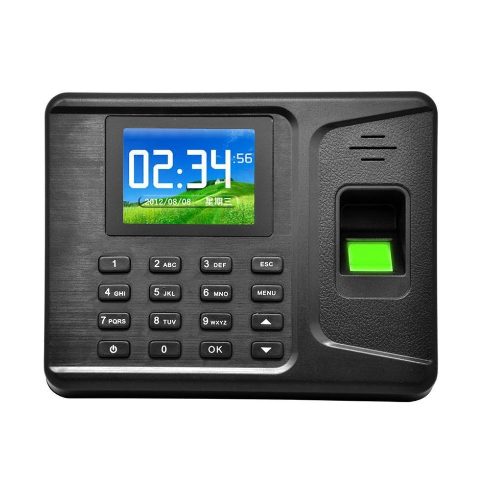 Hestio Fingerprint Time Attendance Machine Biometric Time Clock for Employee Small Business Time-Tracking Recorder