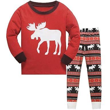 2f030a12eb TEDD Christmas Pjs Kids Pyjamas Set for Boys Nightwear Cotton Toddler  Clothes Girls Fun Reindeer Sleepwear