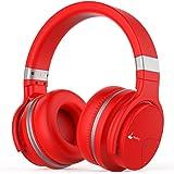 Meidong Auriculares Bluetooth, E7B inalámbricos Ligeros con micrófono Hi-Fi Sonido de Graves Profundos Sobre el, Almohadillas Protectoras para los oídos cómodos,30 Horas de Juego para TV de Trabajo