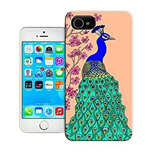 Unique Phone Case Peach Peacock Art Print Hard Cover for iPhone 4/4s cases-buythecase by lolosakes