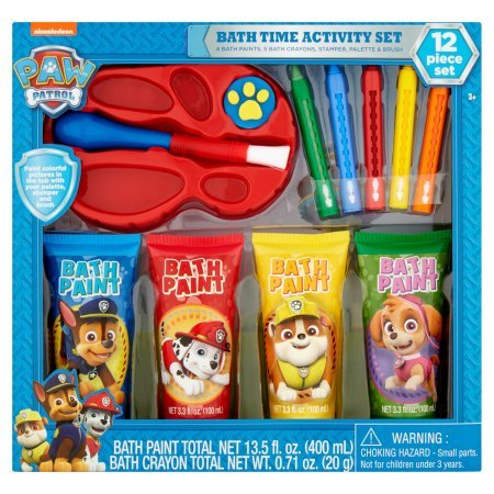 paw patrol bath time activity set