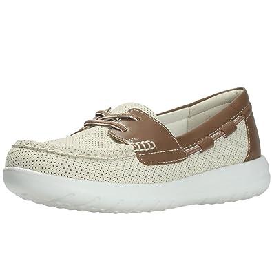Clarks Jocolin Vista Womens Wide Fit Boat Shoes 7 Off White
