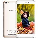Blackview A8 MAX Smartphone Dual SIM DE 5.5''(2+16GB,EU Versión, 5 + 8MP Cámara,3000mAh Batería,4G Smartphone Libre,GPS,Blutooth) - Oro