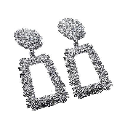 1 Pair Vintage Women's Jewelry Geometric Pendant Dangle Drop Statement Earrings Jewellery & Watches