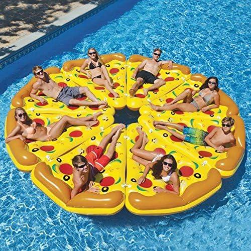 Eurowebb Colchón Flotador Hinchable Pizza – Flotador Part de Pizza ...