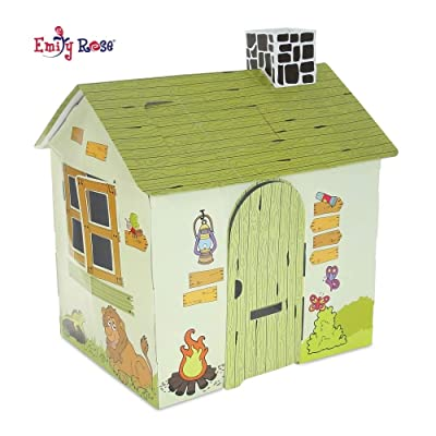 Emily Rose Incredible Colorful Dollhouse or Kid's Play House | Includes Functioning Door, Window and Roof Hatch! (Safari House) | Playhouse for Kids: Toys & Games