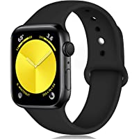 Zekapu Sport Strap Compatible with Apple Watch 38mm 42mm 40mm 44mm, Soft Silicone Replacement Classic Strap for iWatch Series 5 Series 4 Series 3 Series 2 Series 1, 18 Colours