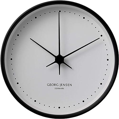 Georg Jensen Henning Koppel Clock, 6 x 22 x 22 cm, Material Mirror Polished Stainless Steel, Abs, Plastic, 2 Piece