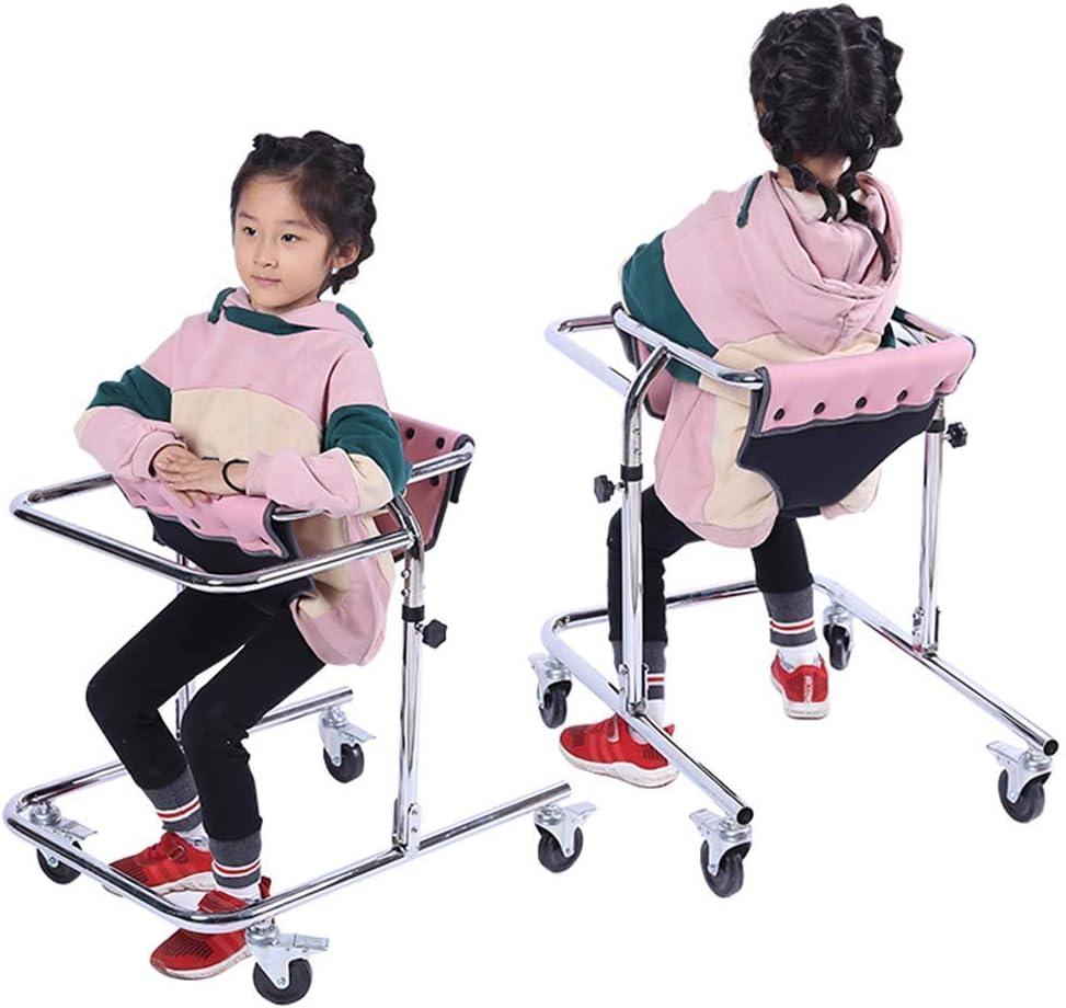 Bastidores para caminar livianos con ruedas Ayuda para andador interior Instrumentos médicos Soporte de pie Andador Parálisis cerebral Hemiplejia Rehabilitación Equipo de entrenamiento Discapacitados