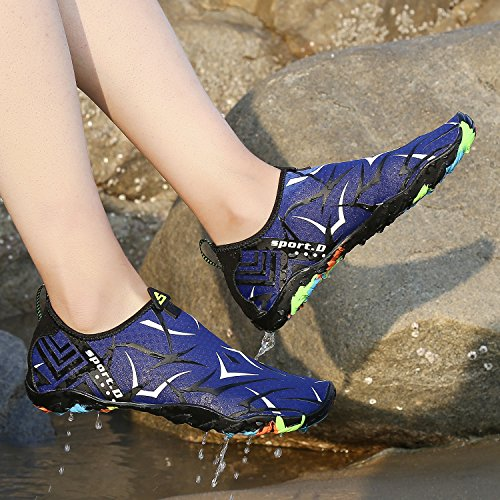 Pengcheng Water Shoes Uomo Donna Beach Swim Shoes Pelle A Piedi Nudi Quick-dry Aqua Socks Per Nuotare, Camminare, Yoga, Lago, Spiaggia, Surf, Park, Driving, Canottaggio Royal Blue