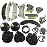 Engine Timing Chain Kit w/Chain Guide Tensioner Sprocket For Cadillac CTS SRX STS GMC Acadia Chevy Equinox Malibu…