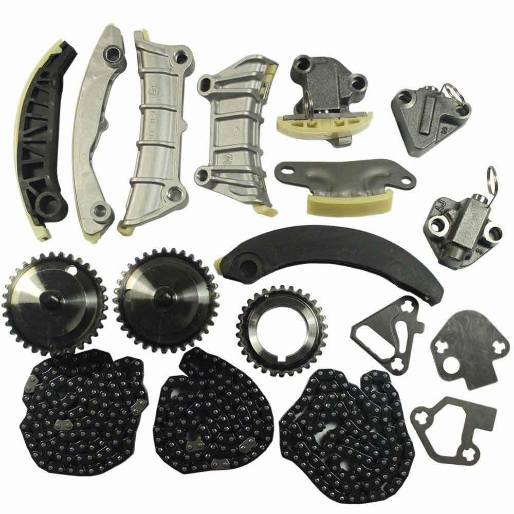 Engine Timing Chain Kit Includes Chain Guide Tensioner Sprocket For Chevy Equinox Malibu Traverse GMC Acadia Cadillac CTS SRX STS Buick Enclave LaCrosse Saab Suzuki 2.8L 3.0L 3.6L DOHC 24V Auto Parts Prodigy