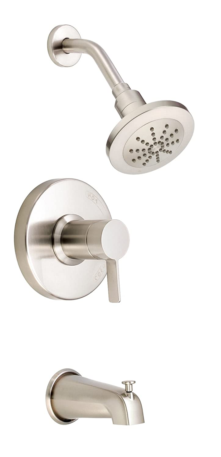 Valve Not Included 1.75 GPM Brushed Nickel Danze D511030BNT Amalfi Single Handle Tub and Shower Trim Kit