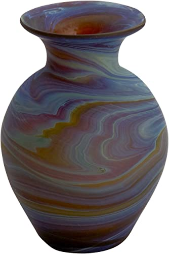 Ten Thousand Villages Hand Blown Phoenician Glass Vase Ancient Beauty Bud Vase