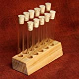 Empty Test Tube Block and 11 Test tubes - Great for Spices, Arts and Crafts