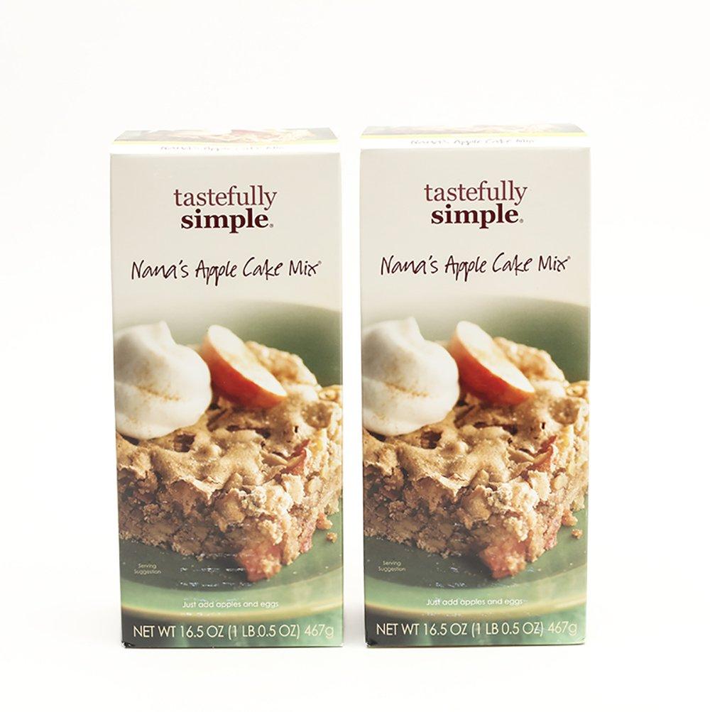 Tastefully Simple 2 Pack Nana's Apple Cake Mix