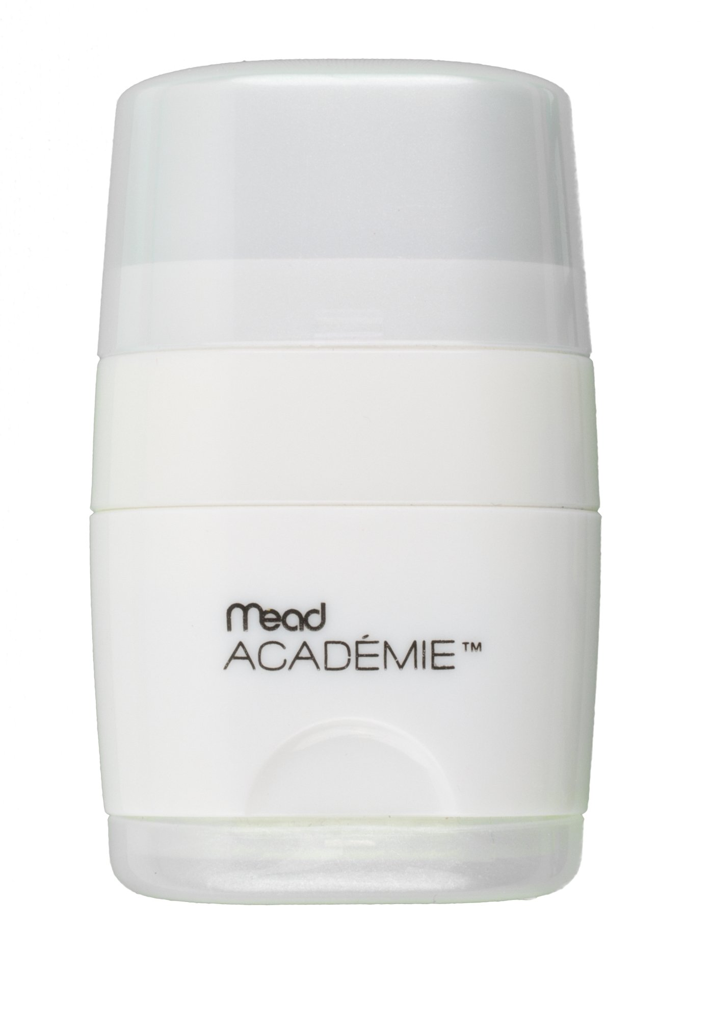 Mead Academie 2-In-1 Pencil Sharpener and Eraser, 2.25 H x 1.25 W Inches, White (98032) by Mead (Image #2)