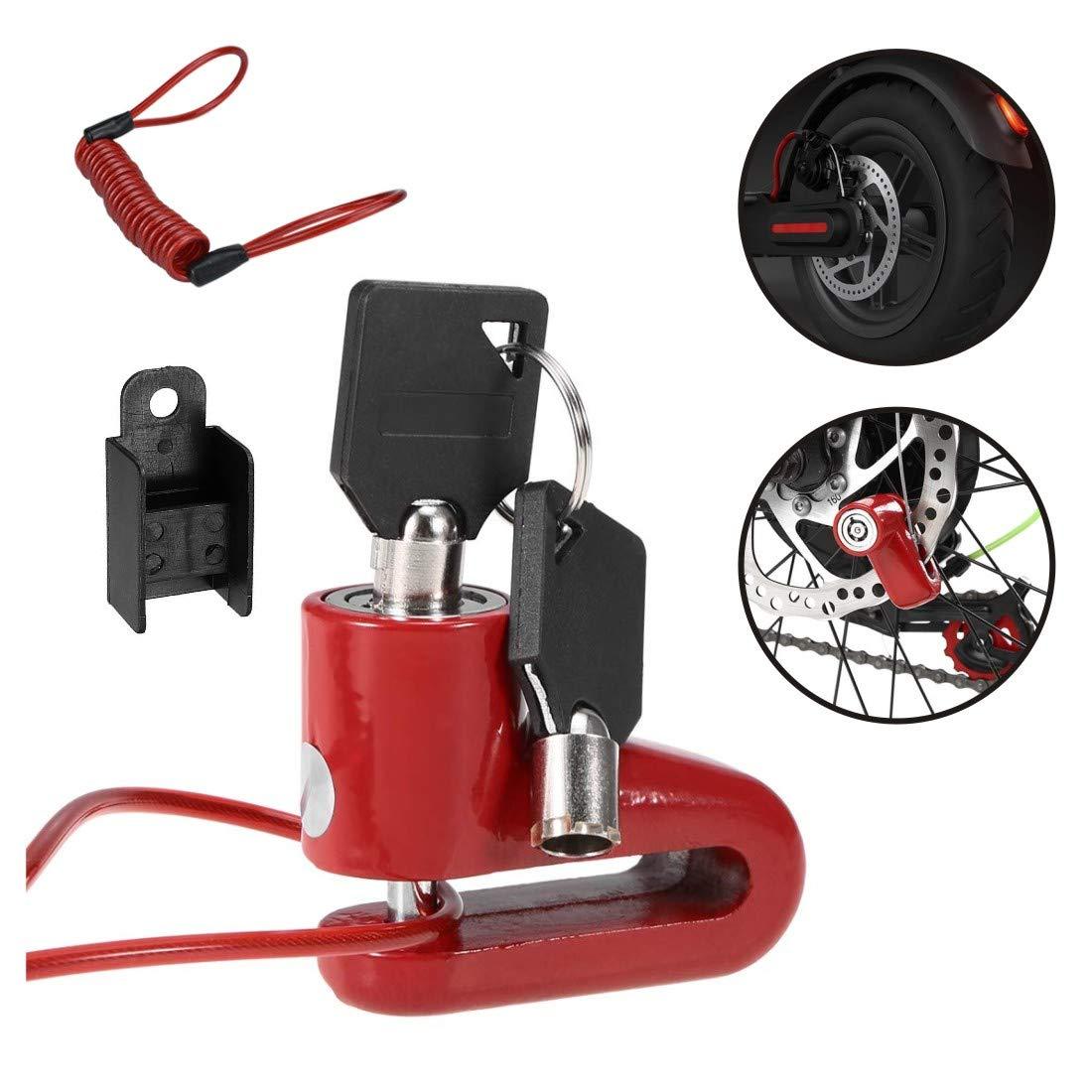Tinke Bremsscheibenschloss mit 1.2m Erinnerungskabel f/ür Xiaomi 365 Motorrad Fahrrad Wasserdicht Schwarz
