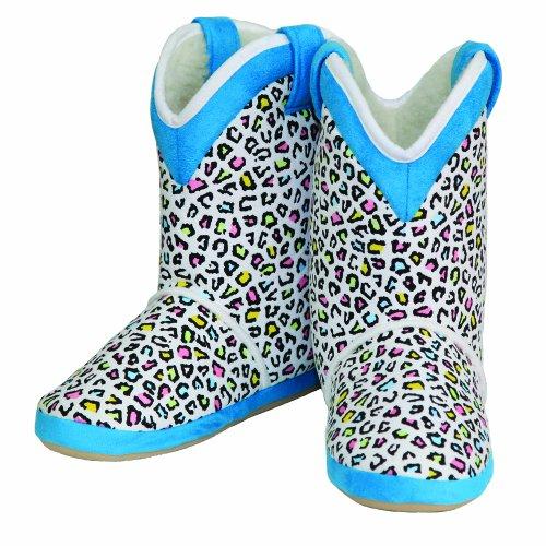 - Cicciabella Womens Skittlex Leopard Print Boot Slippers, Medium, Multicolor Leopard