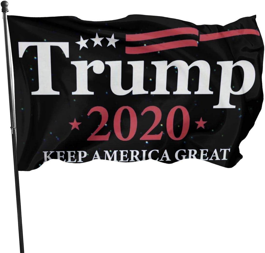 AOOEDM Trump 2020 Keep America Great 3x5 Ft Flag Outdoor Garden Banner
