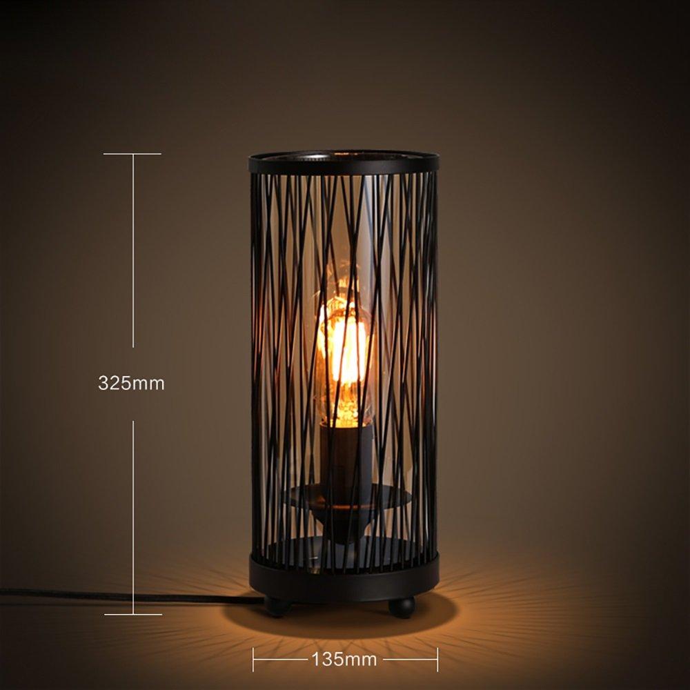 MILUCE Industrial Wind Retro Personality Network Nordic Minimalist Creative Bar Study Bedside Decorative Desk Lamp ( Size : Style B )