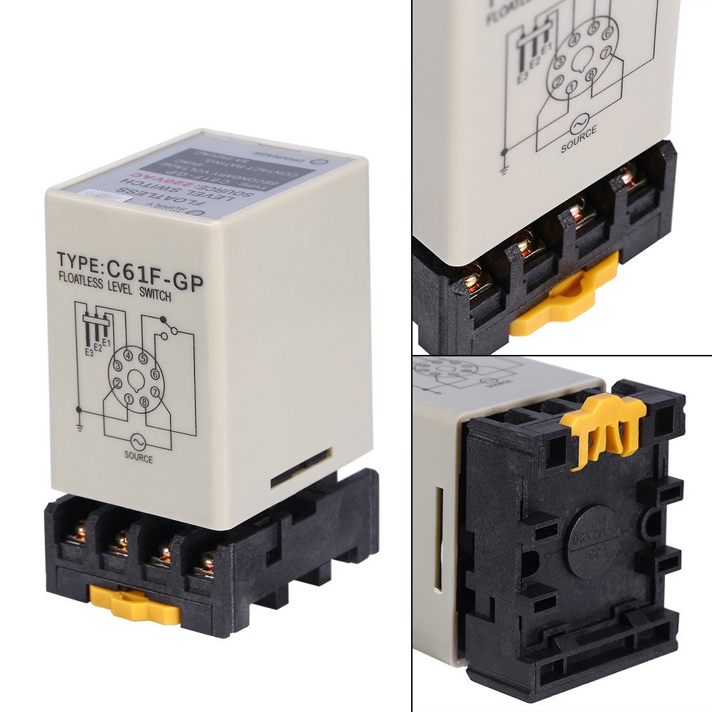 Controlador de Nivel de Agua sin Flotador Interruptor de Nivel de Líquido sin Flúter AC220V 50 / 60HZ con Toma de Corriente: Amazon.es: Bricolaje y ...