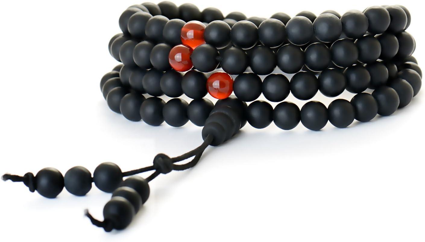 BUDDHAFIGUREN/Billy Held–Mala (rosario–rosario budista, perlas–tibetano Mala collar–1086mm curación mate bian piedras cuentas wrap pulsera–Chakra joyas para meditación