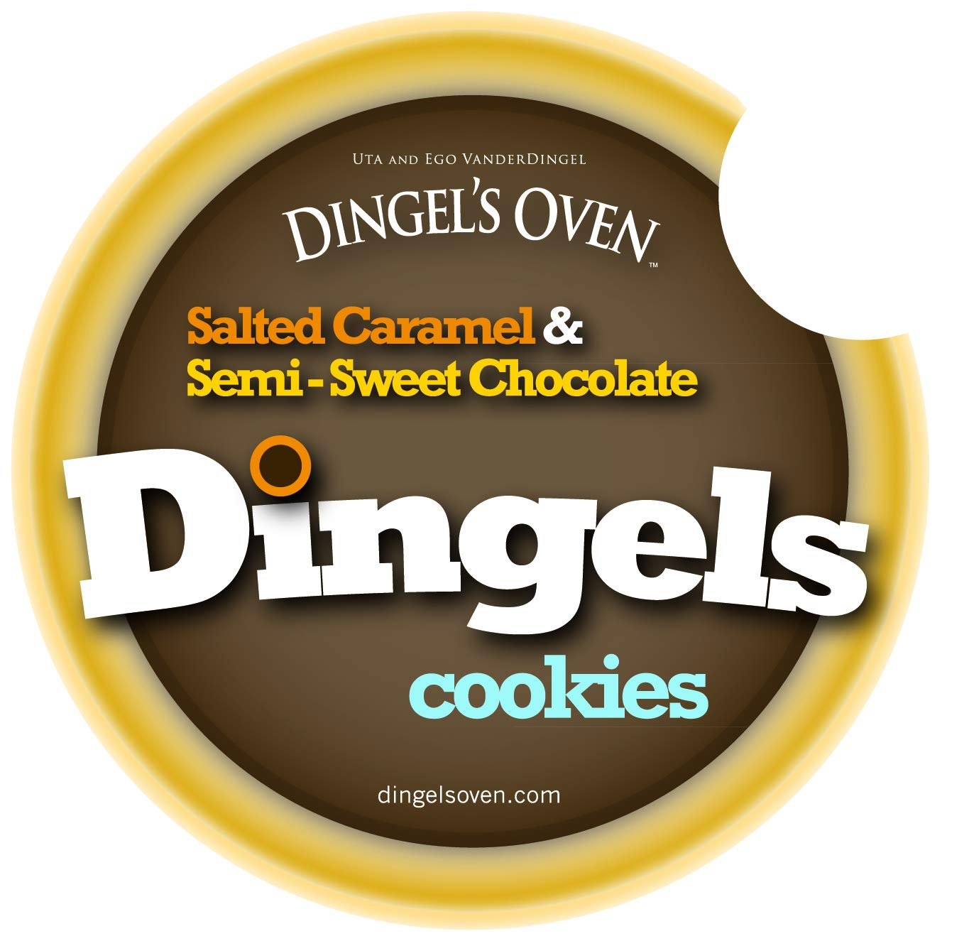 15 DINGELS cookies: Salted Caramel Semi-Sweet Guittard Chocolate Luxury Gourmet Shortbreads Buttery Crunchy Double-Deep Glazed INDULGE! by Dingel's Oven