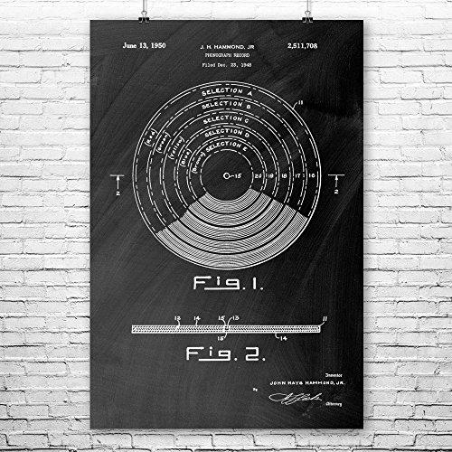 Vinyl Record Poster Art Print, DJ Poster, Musical Record, Vinyl,