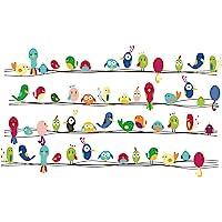 decalmile Vinilos Vistoso Lindo Animales Pájaros Pegatinas Pared Desmontable Decorativos Adhesivos para Niños Habitación…