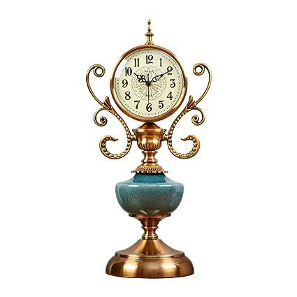 Relojes de mesa 6 Pulgadas Mute Reloj Dormitorio Reloj de cerámica Agrietado Reloj Retro Sala de
