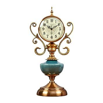 Reloj Mesa 6 Pulgadas Mute Dormitorio cerámica Agrietado ...