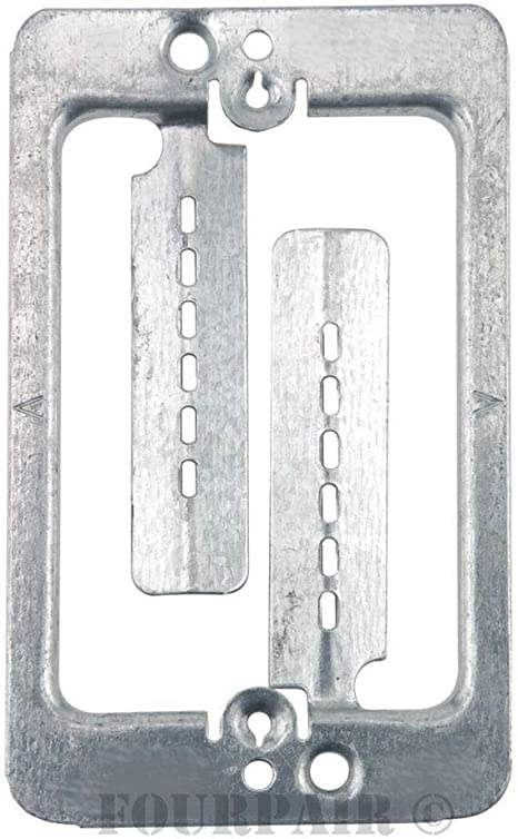10 Pack 1-Gang Steel Drywall Bracket Face Wall Plate Mount Mud Ring Low Voltage