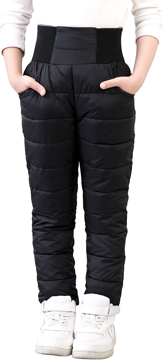 UGREVZ Girls Boys Snow Pants 2-10 Years Old Thick Winter Warm Pants Girl Activewear Clothes
