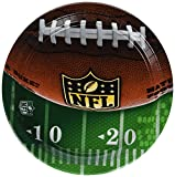 Amscan NFL Drive Birthday Round Paper Dinner Plates Tableware Party Supplies (48 Piece), Multicolor, 11 Inch