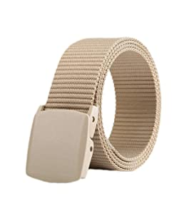 ZORO Army Tactical Waist Belt Automatic Buckle Nylon Canvas Male Men Survival Strap, Beige Colour, BG-49