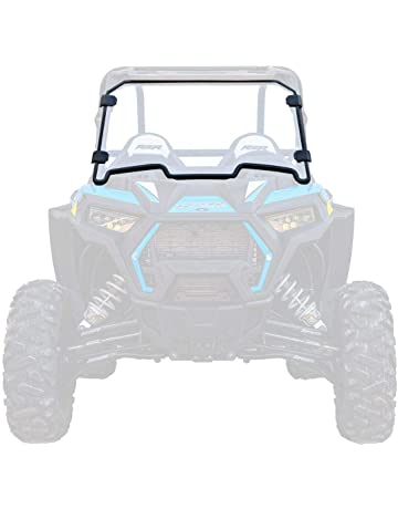 SuperATV Heavy Duty Clear Non-Scratch Resistant Full Windshield for Polaris RZR XP 1000/
