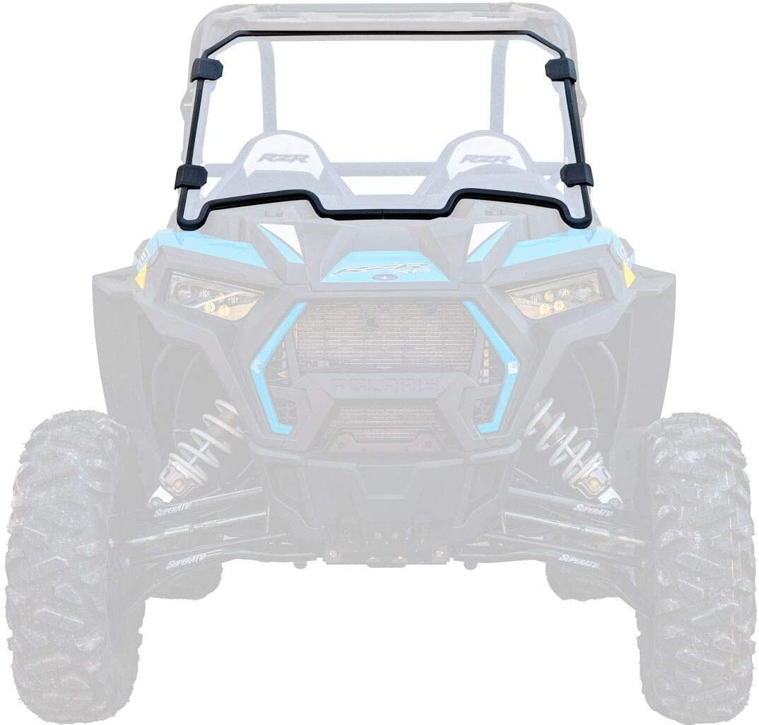 Polaris RZR Clear Vented Full Polycarbonate Windshield with Quick Straps for 2019 Clear Turbo RZR 1000