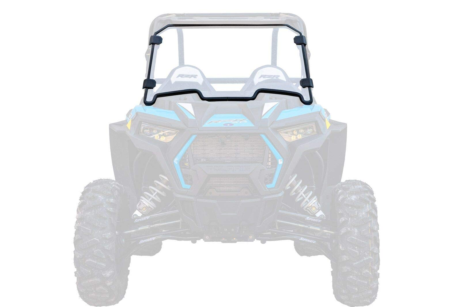 SuperATV Heavy Duty Clear Scratch Resistant Full Windshield for Polaris RZR XP 1000/4 1000 (2019+) - Installs in 5 Minutes!