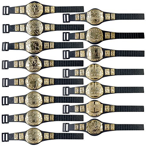 15 Championship Belt Mega Deal for WWE Wrestling Action Figures by Figures Toy Company