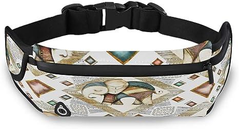 Card Elephant Frame Animal Made Running Lumbar Pack For Travel Outdoor Sports Walking Travel Waist Pack,travel Pocket With Adjustable Belt