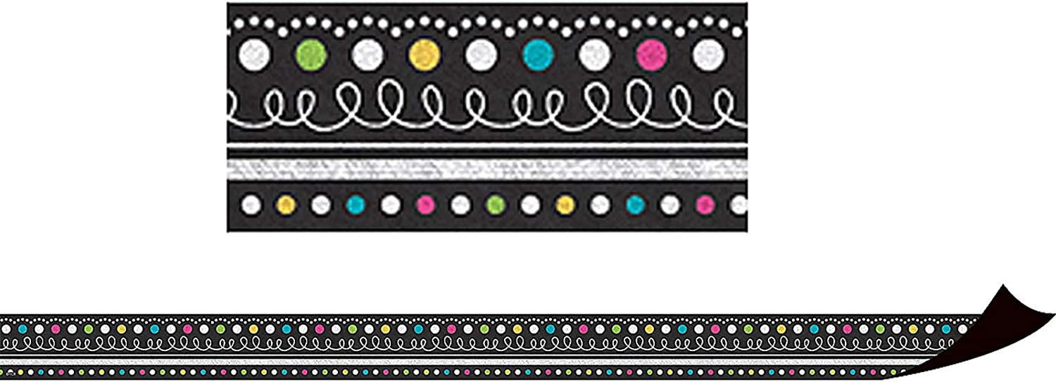 Teacher Created Resources Chalkboard Brights Magnetic Borders (77132)