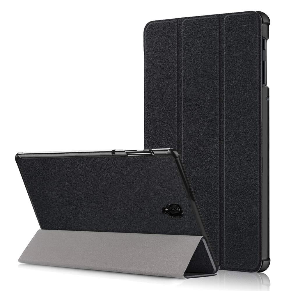 Samsung Galaxy Tab S4 10.5用ケース 高級本革ケース スタンド付き フリップカバー ハンドメイド Samsung Galaxy Tab S4 10.5用 (ブラック)   B07LCFJ5FR